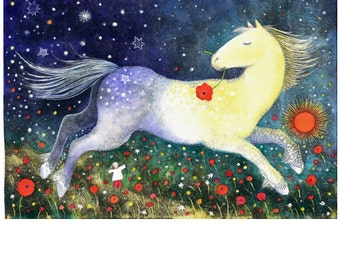 "Flying Horse 11"" x 17"""