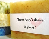 Bridal Shower Favors-Bridal Favors-Handmade Soap Favors-Personalized Favors-Wedding Favors