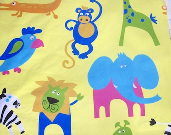 Children's Animal Print Fabric by the Meter or Yard