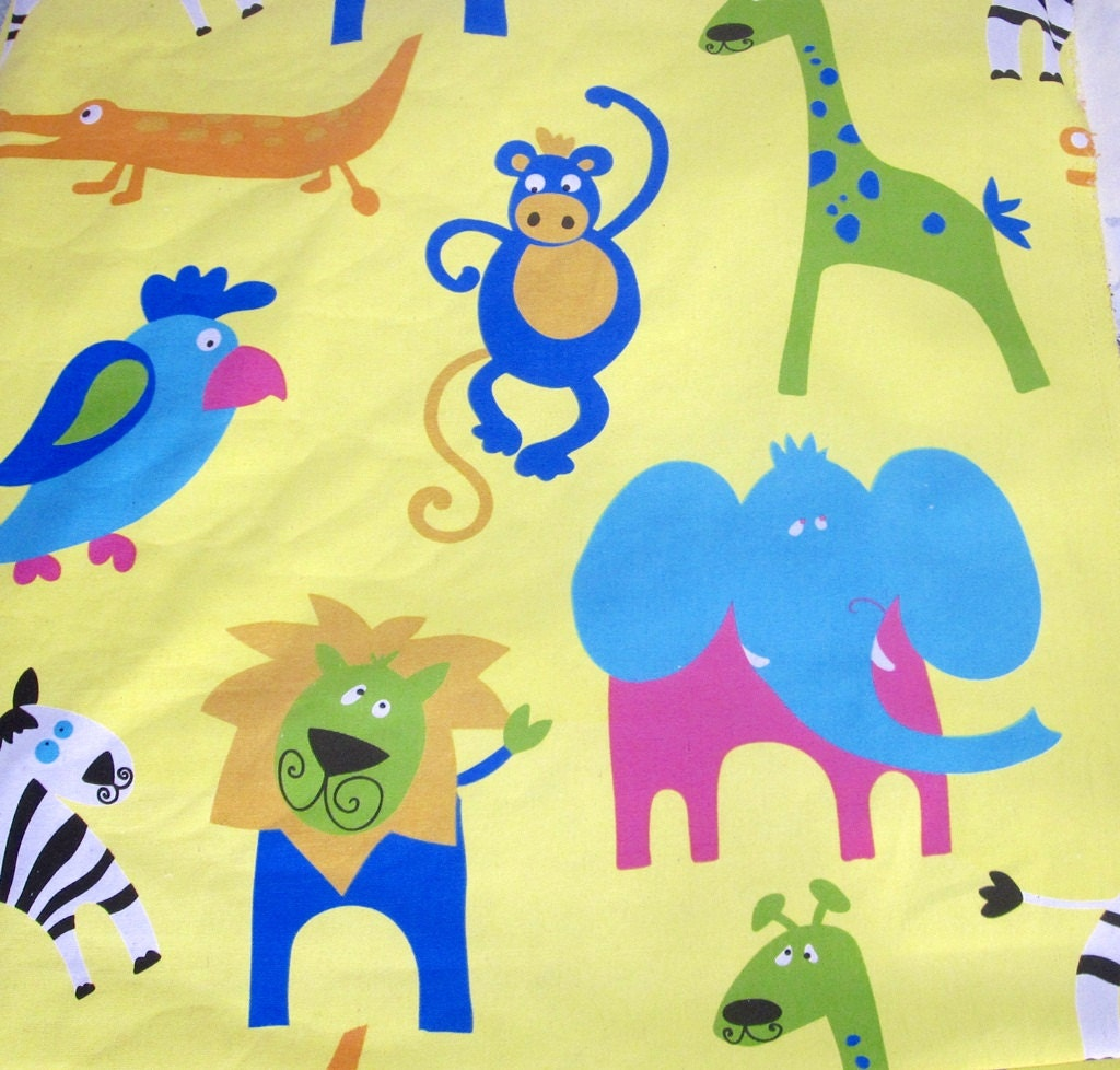 children 39 s animal print fabric by the meter or by latrouvaille ForAnimal Print Fabric For Kids