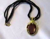 Hear Me Roar - House Lannister - Game of Thrones Red Creek Jasper Necklace