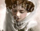 Grace-Victorian Woman-French Postcard-Digital Image Download