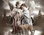 Angels of Kindness-Victorian Digital Image Download