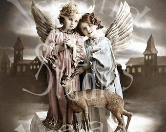 Angels of Kindness-Victorian Digital Image Download