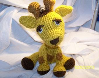 Crochet Greyson the crochet giraffe ANY colors you want