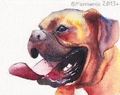 8x10 CUSTOM Dog Portrait Watercolor Pet Lover Painting Memorial Mother's Day