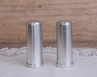 Kensington Aluminum Art Deco Salt & Peppers