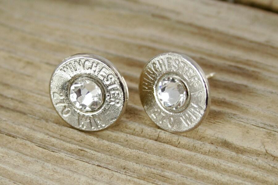 custom earrings bullet earrings winchester 270 nickel