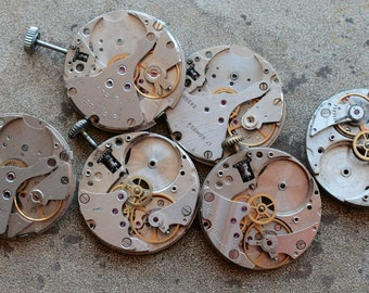 Vintage watch movements -- set of 6 -- pairs -- D15