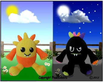 Midday and Midnight Monsters  Pattern only IMMEDIATE DOWNLOAD