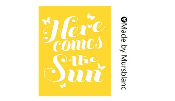 Here comes the sun, Beatles lyric, Printable Lyrics, Instant Download, Printable Wall Art