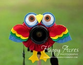 Lens Bling - Tropical Parrot with Squeaker- Ready to Ship