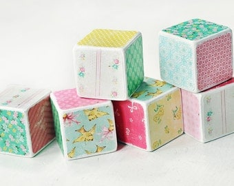 Decorative wooden blocks Retro Spring