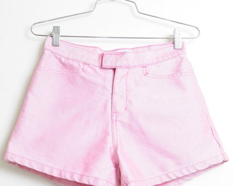 Vintage 90s Shiny Vibes Summer Time Pink Jean Short Shorts