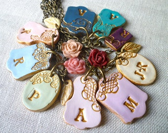 Add letter to your Cluster Necklace - Free shipping with another order