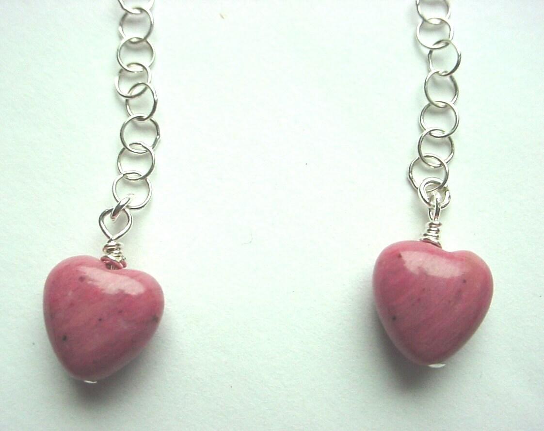 Pink heart earr...