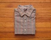 mens vintage levis plaid oxford shirt