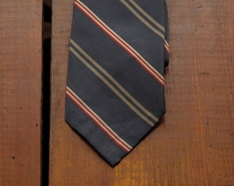vintage Ralph Lauren untipped regimental tie