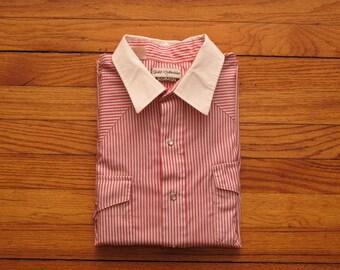 mens vintage Karman striped western shirt