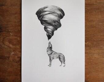 Print - Wolf Howl