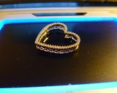 SOLD and RESERVED for Julie 14K Heart Pendant White Gold Diamond Slide for Mother's Day overage charge for shipping