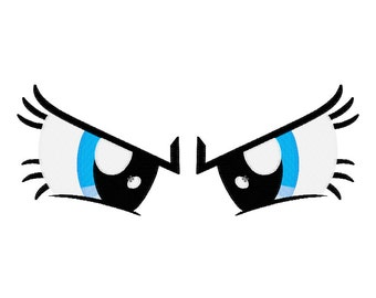 PES FILES: Pinkie Pie Angry Eyes - Embroidery Machine Design File