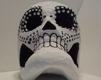 Dia de los Muertos (Day of the Dead) paper mache skull Style V