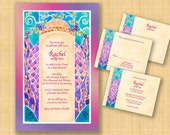 Printable BAT MITZVAH invitations - DIY Invitations - Print your own invitations - digital invitations - English Hebrew - Wondering Jew