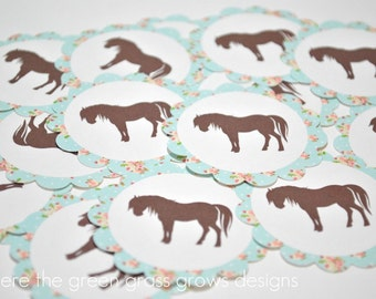 Shabby Chic Vintage Pony Stickers