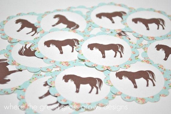 Shabby Chic Vintage Pony Stickers