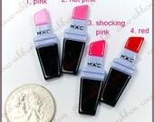 12~24 Pieces 39mm Lipstick Flatback Resin Cabochons - Choose Your Color