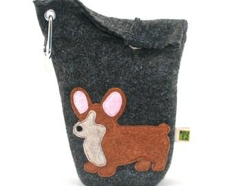 Dog Poop Bag Holder Small Leash Bag Welsh Corgi