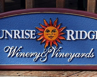 Custom Vineyard Sign home decor housewares outdoor sign wall hanging custom sign name sign personal sign hanging sign business sign