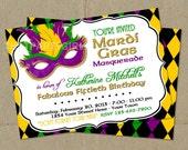 Mardi Gras Masquerade Party Invitations - DIY U Print