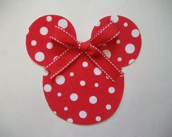 DIY No-Sew Minnie Mouse Applique & Ribbon - Iron On