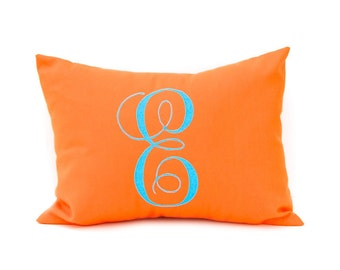 Monogram Pillow - Decorative Throw Pillow Cover - Solid Pillow - Dorm Decor - Nursery Decor - Personalized Pillow - Personalized Gift