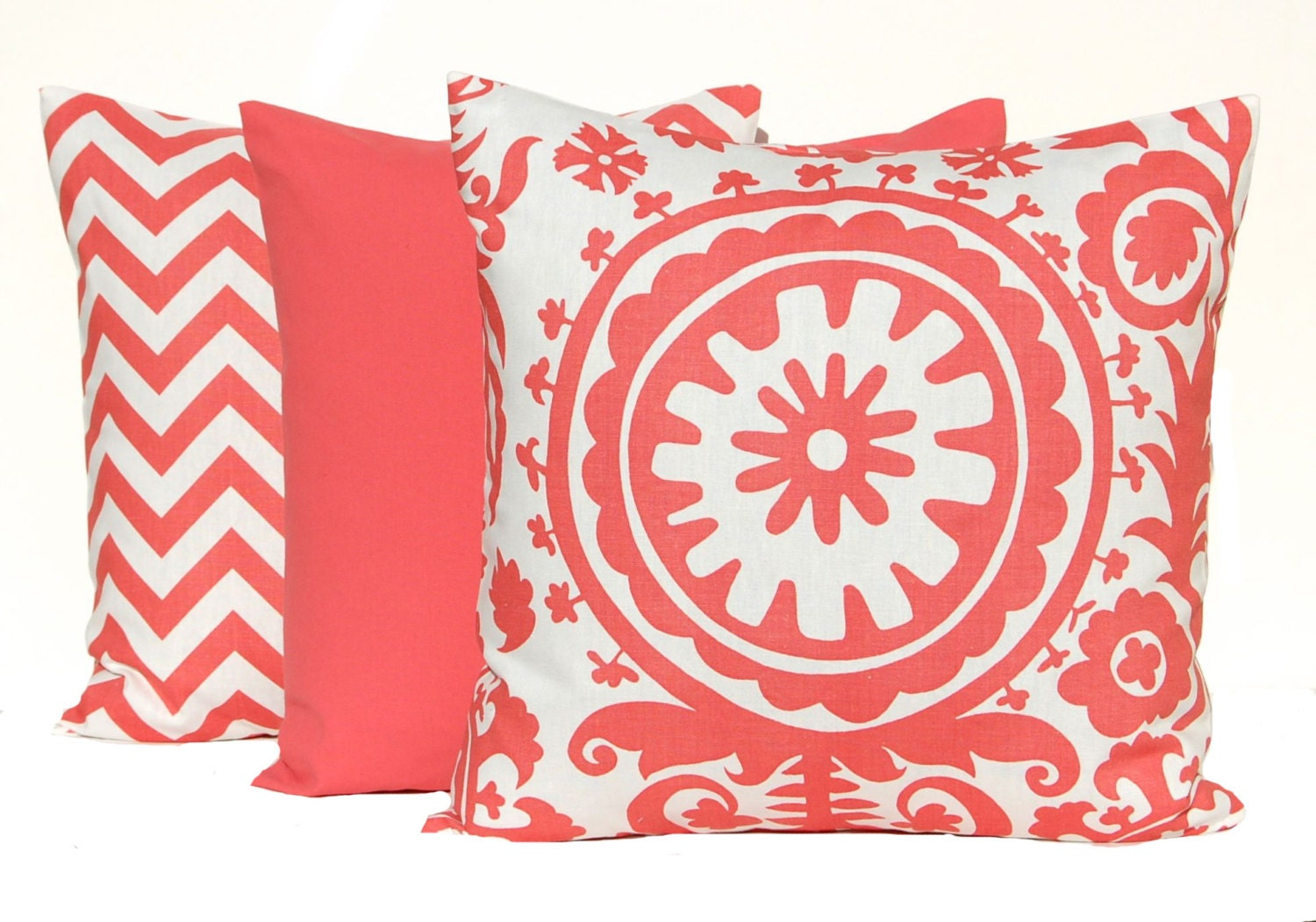 Throw Pillows Coral : Coral Pillows Decorative Throw Pillow Covers by FestiveHomeDecor