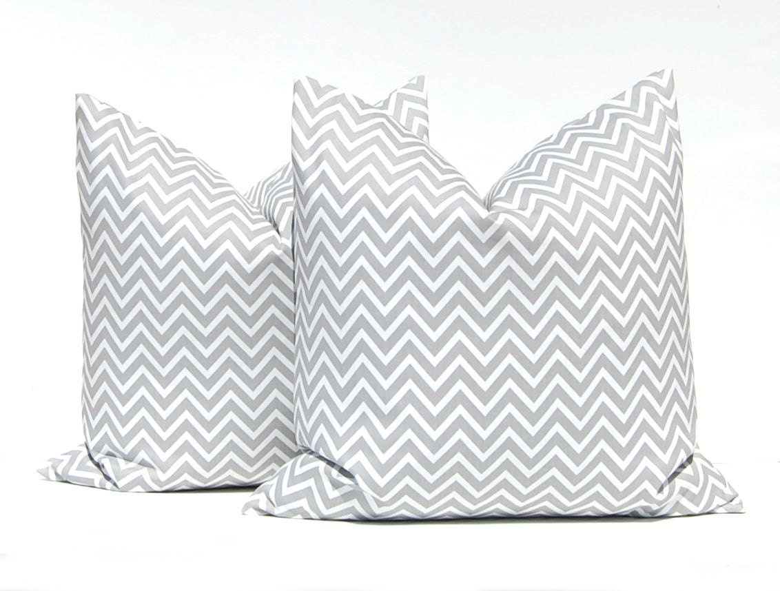 Throw Pillow Euro Sham : Gray Euro Sham Decorative Pillows Gray Chevron by CompanyTwentySix