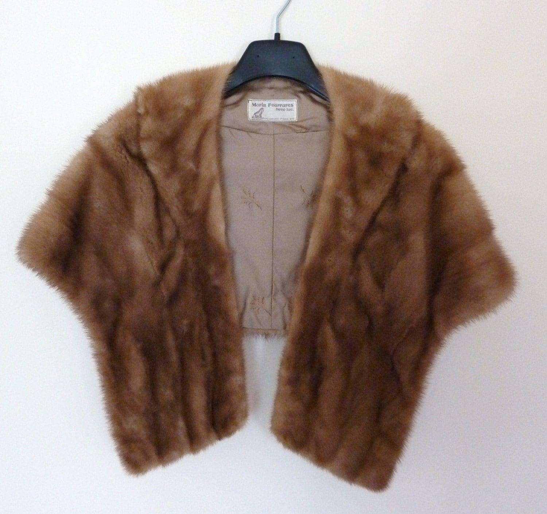 Reserved for jane vintage mink fur stole fall winter - Stoel fur ...