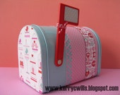 Valentine Love Mini Mailbox with Birds & Polka Dots