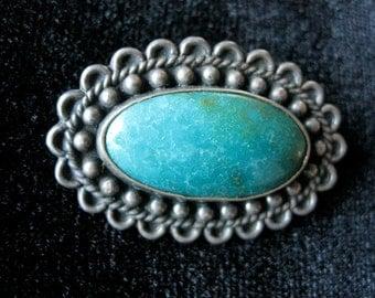 "Vintage Silver Pin Excellent  1 3/8""  Vintage Antique Bootch"