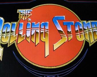 Rolling Stones Original 1975 Concert Poster  Excellent  Stanley Mouse  Green Bill Graham Fillmore