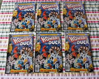 6 MARVEL COMICS Howard the Duck Comics Unused 1976 Stan Lee Comic Book July 4th Edition