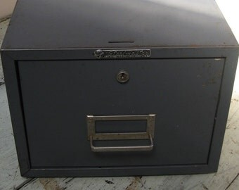 steel gray file box steelmaster file box gunmetal gray one drawer industrial office 16 inches long