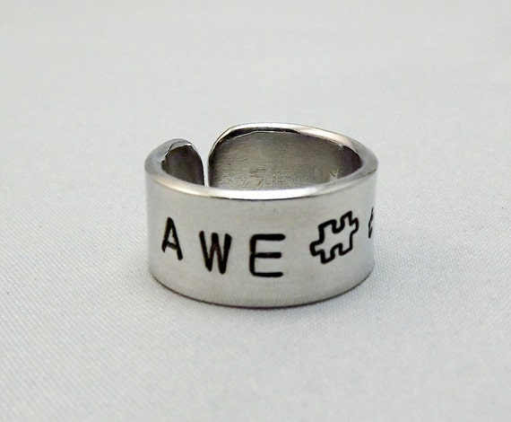 autism awareness jewelry autism ring personalized ring