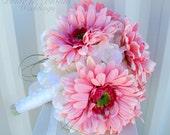 Wedding bouquet Brides bouquet pink gerber daisies