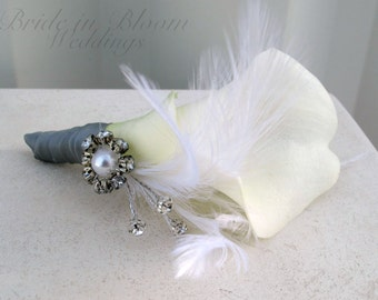 Calla lily corsage, wedding corsages, mother of the bride corsage, wedding accessories