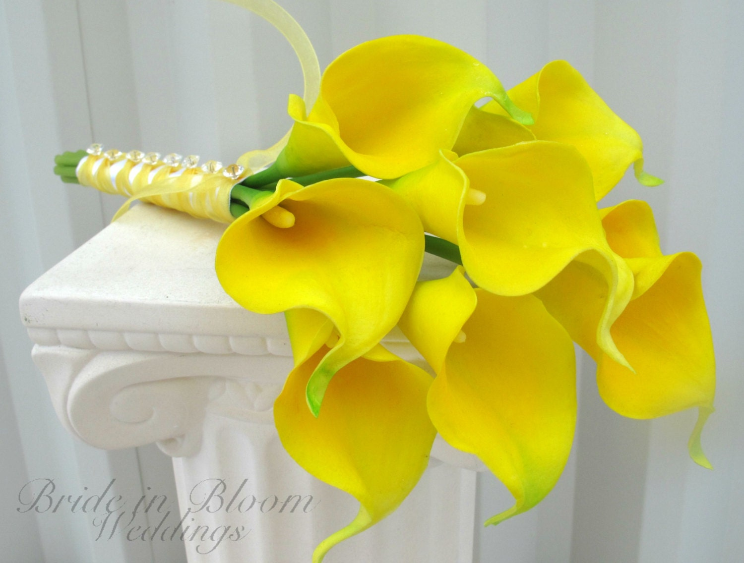Yellow Lilies Wedding Bouquet Calla Lily Wedding Bouquet
