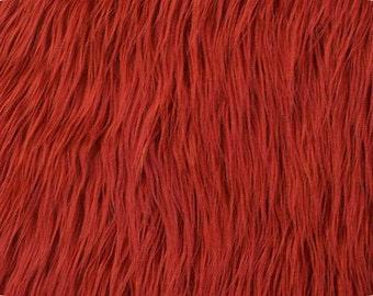 Mongolian Red Faux Fur 18x20 Photography Prop