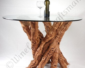 """VINYA - """"Calabrese"""" - Old Vine Grapevine Dining Table - 100% Natural and Recycled"""